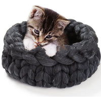 Soft Comfortable Puppy Kitten Bed Wool Weaving Warm
