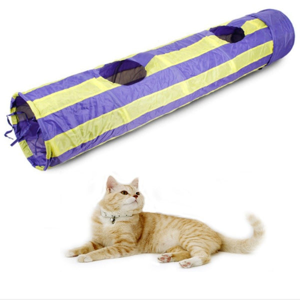 2018 new Puzzle pet toys Folding channel cat toy Pet Tunnel Cat Play Tunnel Foldable