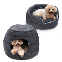 2 Uses Soft Warm Dog House Dog Beds Non-slip Pet Dog Cat House Nest With Removable Cushion Mat House Pet Beds for Cat Kennels