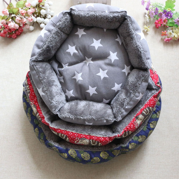 Dog Cat Plush Cozy Nest Mat Pad Print Bed