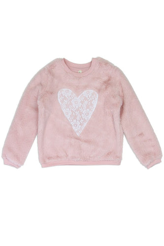 Toddler Kids Cozy Heart Pullover