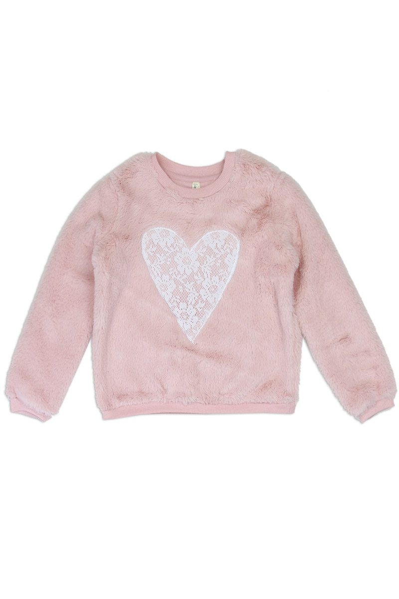 Kids Cozy Heart Pullover