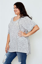 Load image into Gallery viewer, Plus Size - Drop Shoulder V-Neck Tunic Top