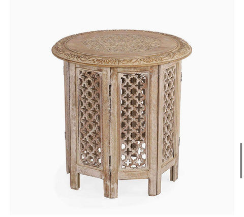Ayat Table (Natural/OffWhite)