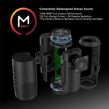 Load image into Gallery viewer, Morpheus 360® Sound-Ring II Wireless Portable Speaker, Bluetooth Speaker with Microphone, 25 Watts Loud, TWS, Deep Bass BT7750BLK