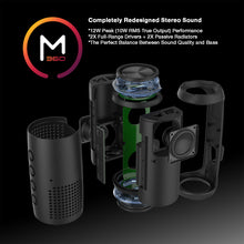 Load image into Gallery viewer, Morpheus 360® Sound-Ring Wireless Portable Speaker, Bluetooth Speaker with Microphone, 12 Watts Loud, Deep Bass, Dual Pairing, Waterproof, IPX6, Rugged, Outdoors, TWS, LED's, BT5750BLK
