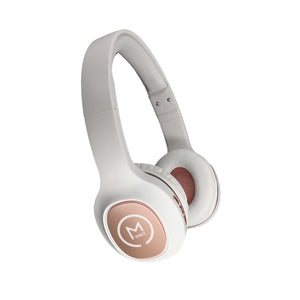 Morpheus 360® TREMORS Wireless On-the-Ear Headphones Hi-Fi Stereo Wireless Headset with Microphone Adjustable Bluetooth 5.0 Comfortable HP4500R Rose