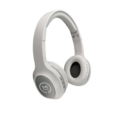 Morpheus 360® TREMORS Wireless On-the-Ear Headphones Hi-Fi Stereo Wireless Headset with Microphone Adjustable Bluetooth 5.0 Comfortable HP4500W White