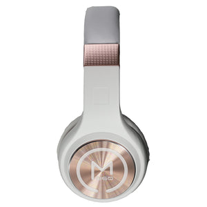 Morpheus 360 SERENITY Wireless Over-the-Ear Headphones Bluetooth 5.0 Hi-Fi Stereo Wireless Headset with Microphone Foldable HP5500R White Rose Gold