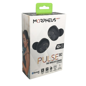 Morpheus 360® PULSE 360 Wireless In-the-Ear Headphones aptX Immersive Audio cVc 8.0 Noise Cancelling, Bluetooth 5.0 Magnetic Charging Case TW7500B
