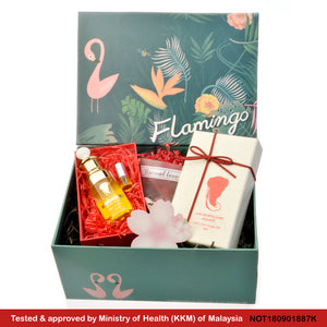 Arganne 100% Pure Organic Argan Oil Flamingo Gift Set, 阿甘倪100% 纯正阿甘油 (Flamingo 礼盒装)