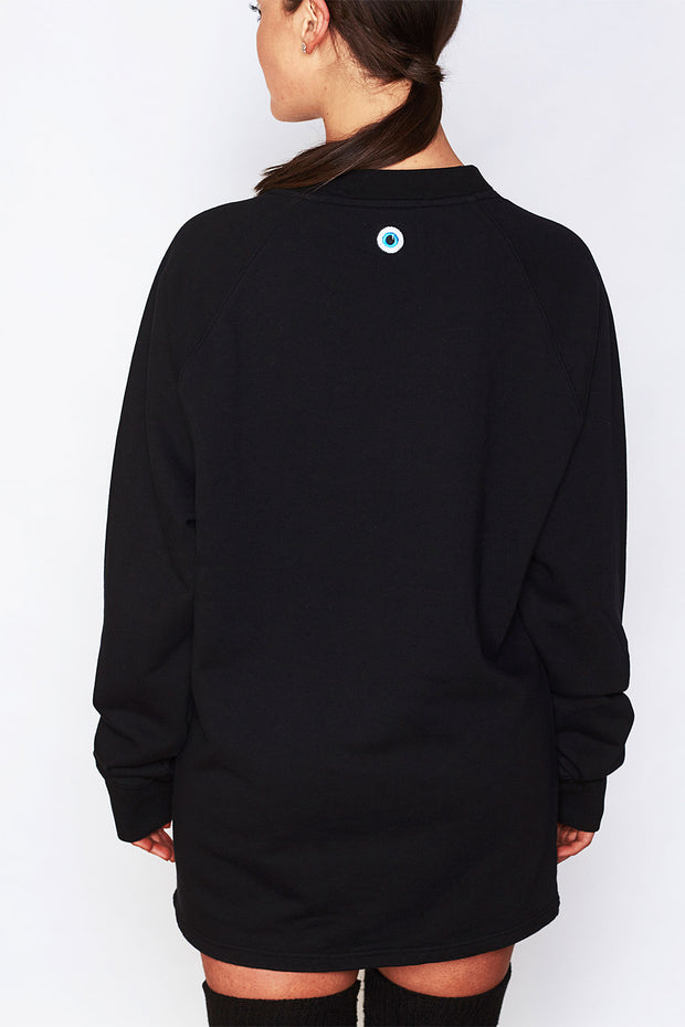 Oversized Long Sleeve Crewneck  (Embroidered Logo)