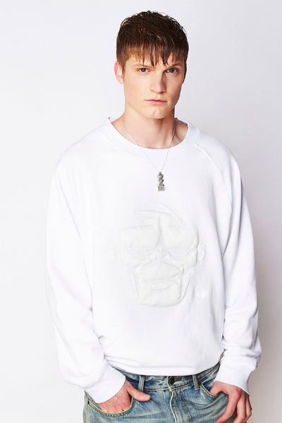 Oversized Long Sleeve Crewneck (Mask Applicque)