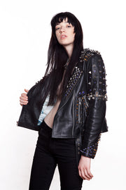 GTB Crystal Biker Amulet Jacket Womens