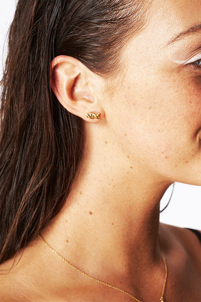 DNA Earings 9ct Gold Plated