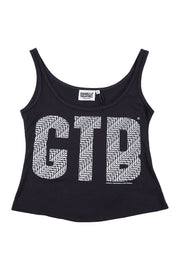 Girls Crop Singlet Infinity Print