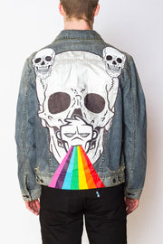 Infinite Fluorescence Handpainted Denim Jacket