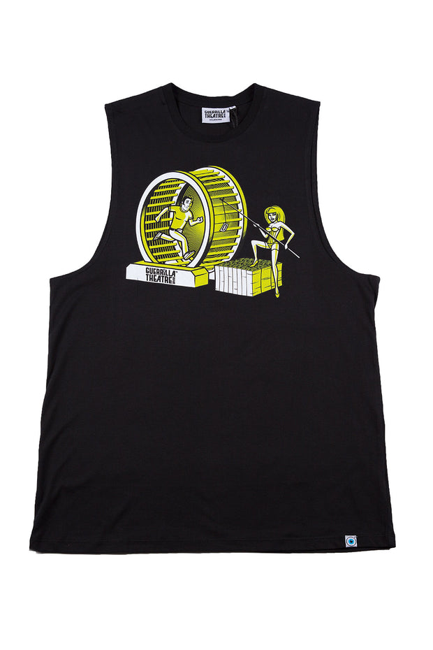 Sleeveless T-Shirt Chasin Print