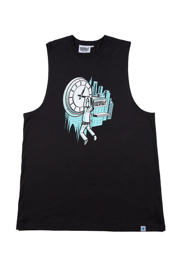 Sleeveless T-Shirt Time Print
