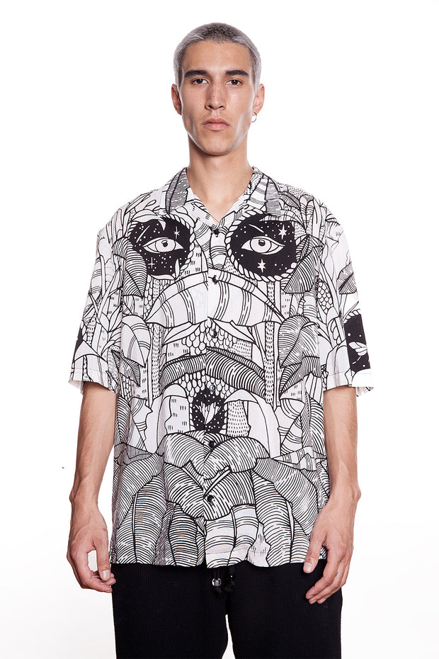GTB Tree Of Life Portal Printed Short-Sleeve Shirt