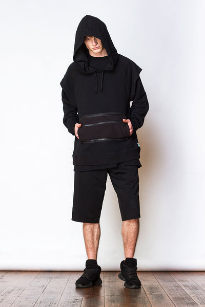 Oversized Sleeveless Hoody