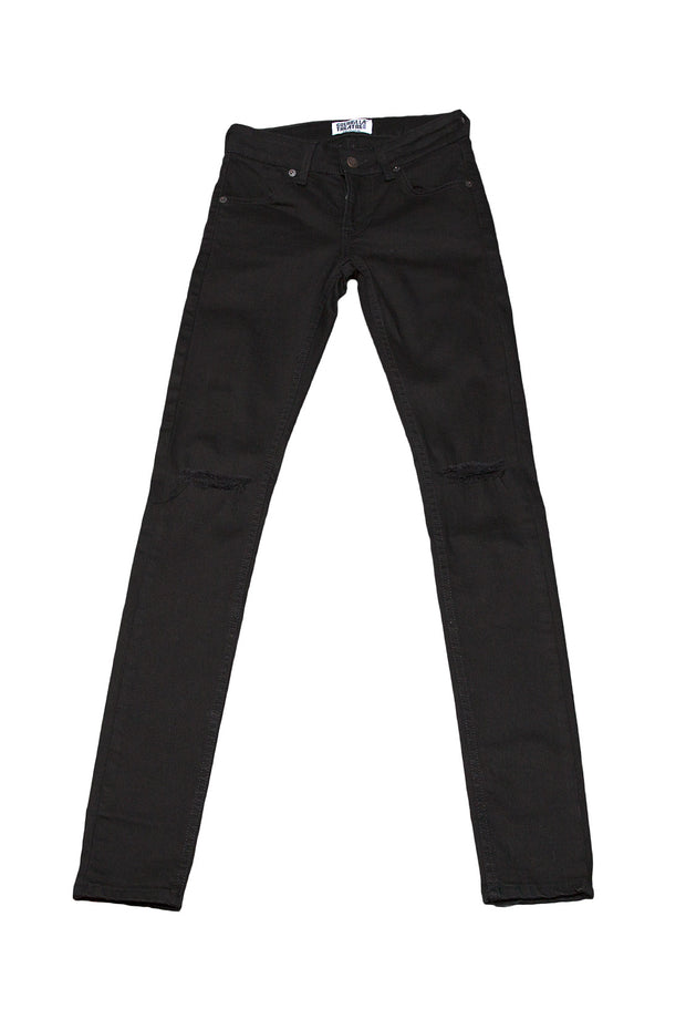 Womens Skinny Jeans Black Ripped
