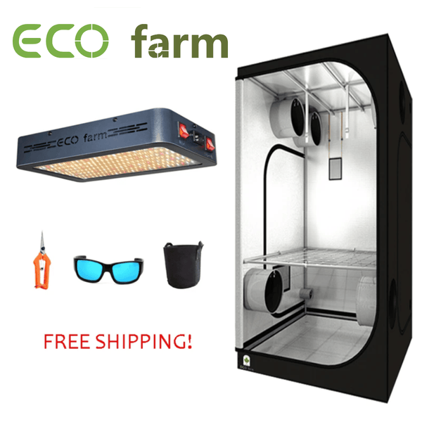 ECO Farm 2'x2' Essential Grow Kit With 120W LED Grow Panel