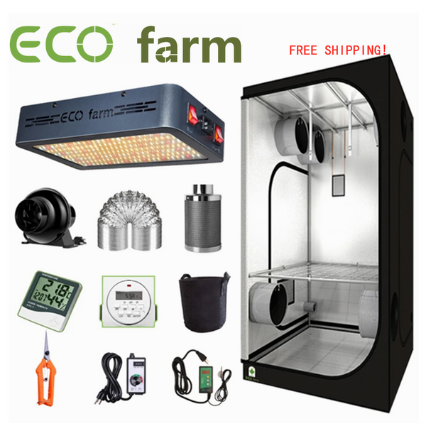ECO Farm 2'x2' Complete Grow Tent Kit - 120W LED Grow Light