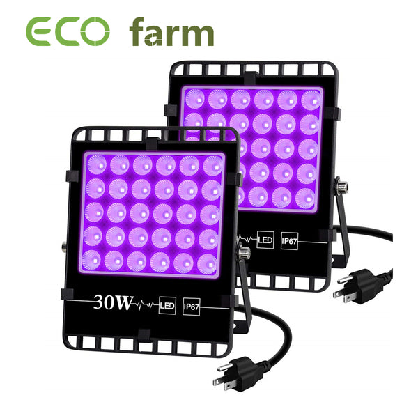 ECO Farm 2 PCS 30W UV Supplemental COB LED Grow Light