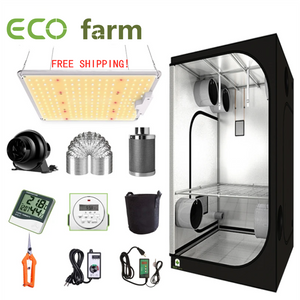 ECO Farm 2'x2' Complete Grow Tent Kit - 110W LM301B Waterproof Quantum Board Type