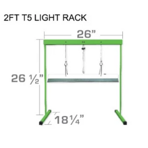 ECO Farm High Quality 2FT/4FT(60.96cm/121.92cm) T5 Light Stand Rack