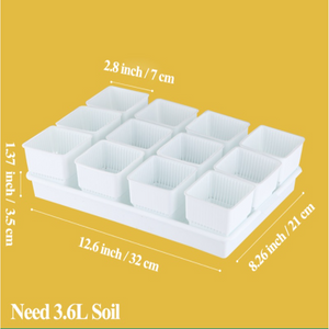 ECO Farm Plastic Square Pot Flower Garden Container in Root Control Function