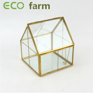 ECO Farm Multi-colored Geometric Stained  Glass Container for Plant