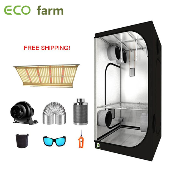 ECO Farm 3.3'x3.3' Essential Grow Tent Kit - 240W Quantum Board With Samsung 561C Chips