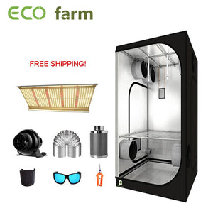 ECO Farm 3'x3' Complete Grow Tent Kit - 240W LED Quantum Board With Samsung 561C  Chips