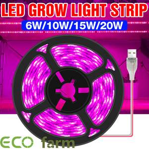 ECO Farm LED Full Spectrum Phyto Lamp USB 5V Grow Light Strip 2835 SMD for Plants Flowers Hydroponic Grow