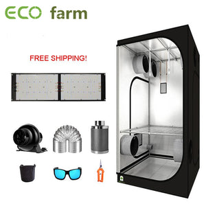 ECO Farm 3.3'x3.3' Essential Grow Tent Kit - 240W Samsung 301H Chips Quantum Board