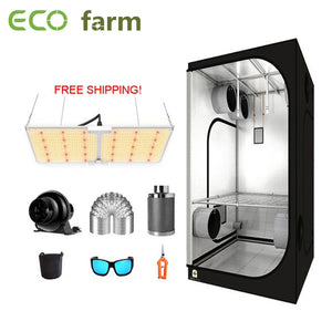 ECO Farm 3'x3' Essential Grow Tent Kit - 220W Samsung 281B Waterproof Quantum Board