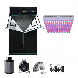 Eco Farm 4*4FT (48*48 Inch/ 120*120 CM) Essential 300W LED Grow Package for 4 Plants