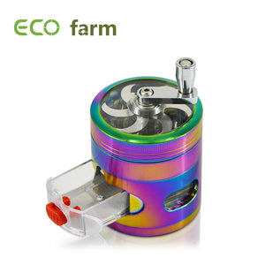 ECO Farm Mini Grinder Rainbow Color Spice Metal Grinder with Drawer Home Decor
