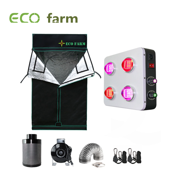 Eco Farm 3*3FT (36*36 Inch/ 90*90 CM) Essential LED DIY Grow Package Hydroponics Indoor Planting System for 2 Plants-GS400