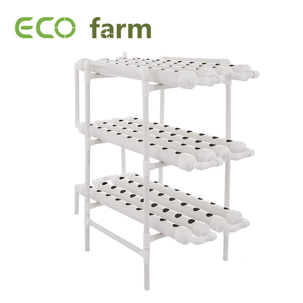 ECO Farm Soilless Cultivation Planting Rack 3 Layer 12 Pipes 108 Plant Sites Hydroponic Growing System Kit