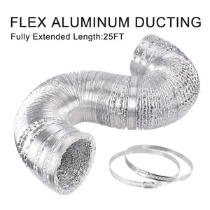 ECO Farm Black/Silver Flex Ducting