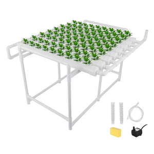 ECO Farm Horizontal Eight Pipe Soilless Cultivation Planting Rack 72 Sites NFT Hydroponic Growing System