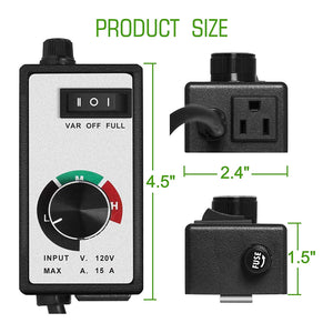 ECO Farm 3 Mode Variable Fan Speed Controllers For Duct Inline Fan