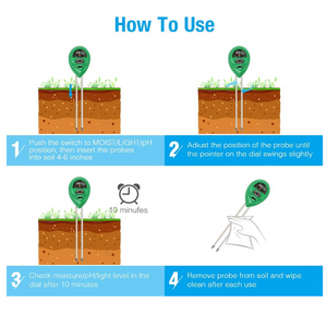 ECO Farm 3-in-1 Soil PH Tester Soil Moisture Sensor For Household