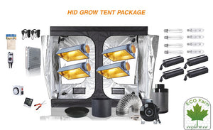 Eco Farm 8*8FT(96*96*80 Inch/ 240*240*200 CM) DIY Grow Package Complete Kit