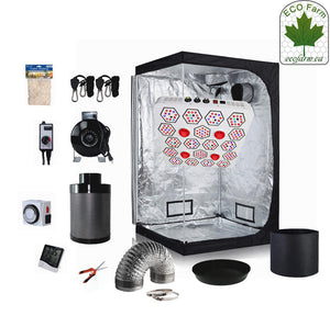 Eco Farm 5*5 FT(60*60*80 Inch/ 150*150*200 CM) DIY Grow Package Indoor Grow Tent Complete Kit