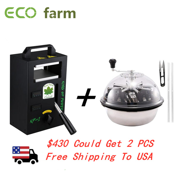 ECO Farm Rosin Press Machine KP1 and 16 Inch Leaf Bowl Trimmer Free Shipping