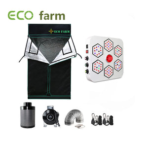 Eco Farm 3*3FT (36*36 Inch/ 90*90 CM) A520 Series DIY Grow Tent For Dark Room Complete Kit Hydroponic Growing System For 2 Plants